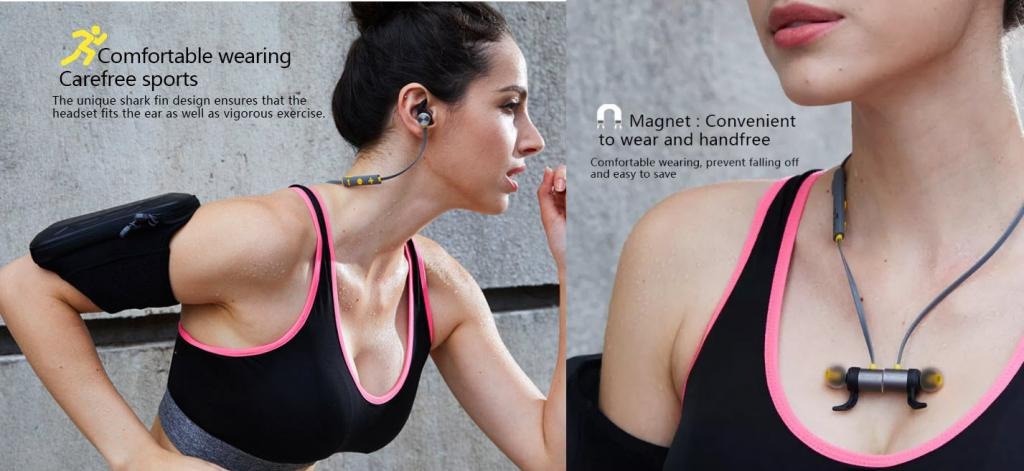 Plextone Bx343 Ipx5 Waterproof Magnetic Wireless Earphones (4)