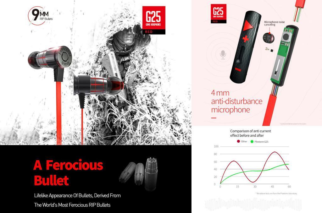 Plextone G25 Gaming Earphones (2)