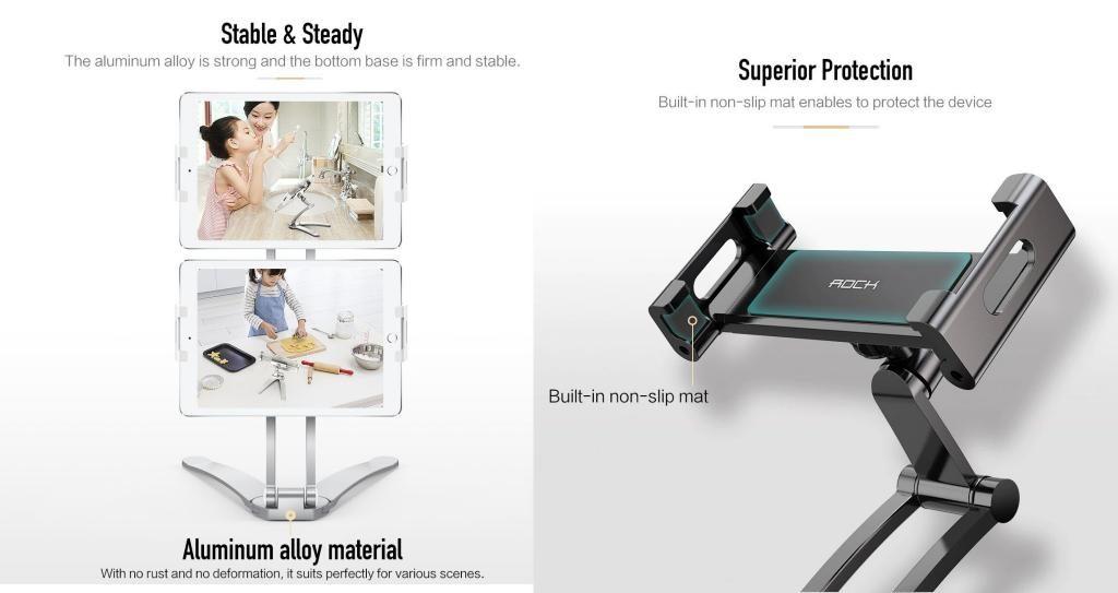 Rock 360 Universal Adjustable Desktop Phone Stand (3)