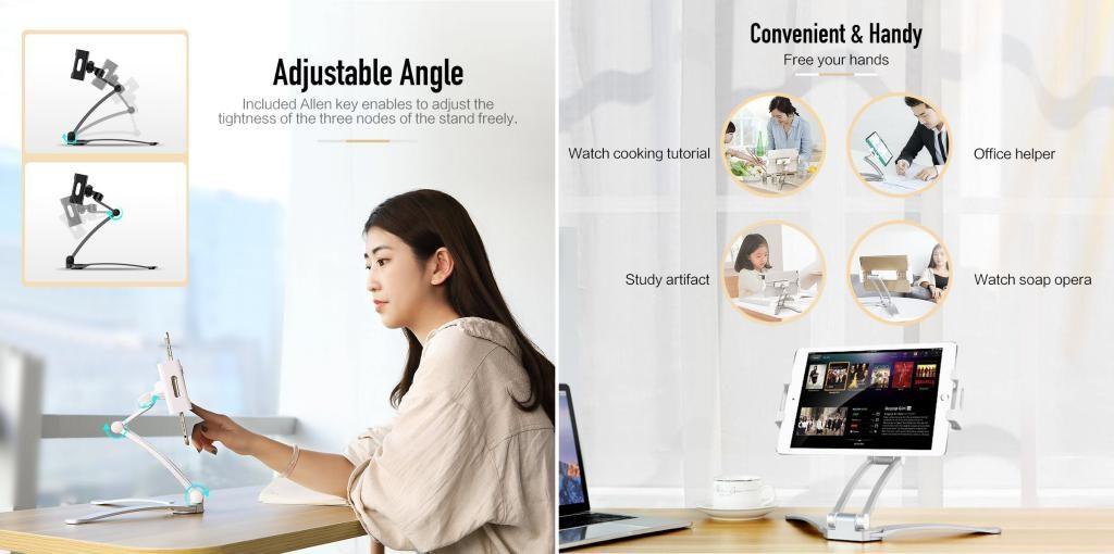 Rock 360 Universal Adjustable Desktop Phone Stand (5)