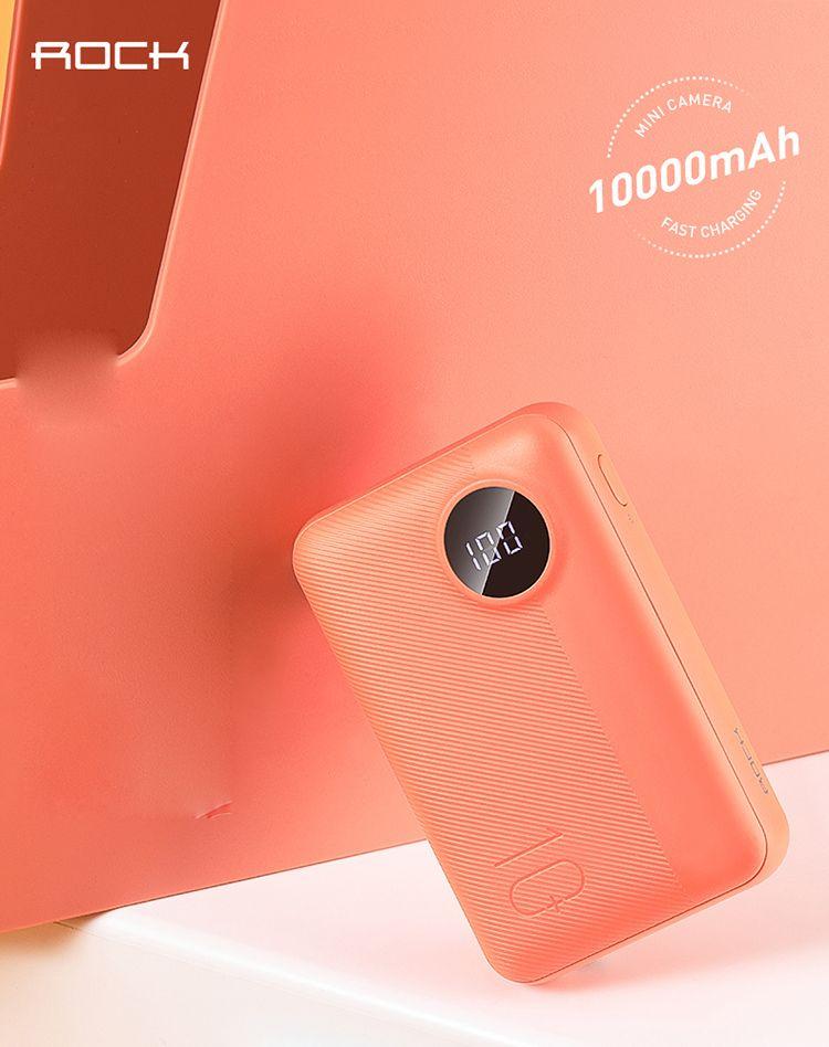 Rock P75 Mini Camera Power Bank 10000mah (1)