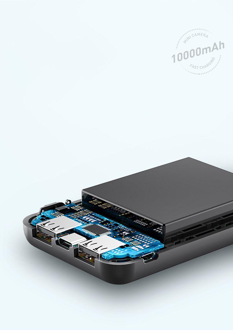 Rock P75 Mini Camera Power Bank 10000mah (21)