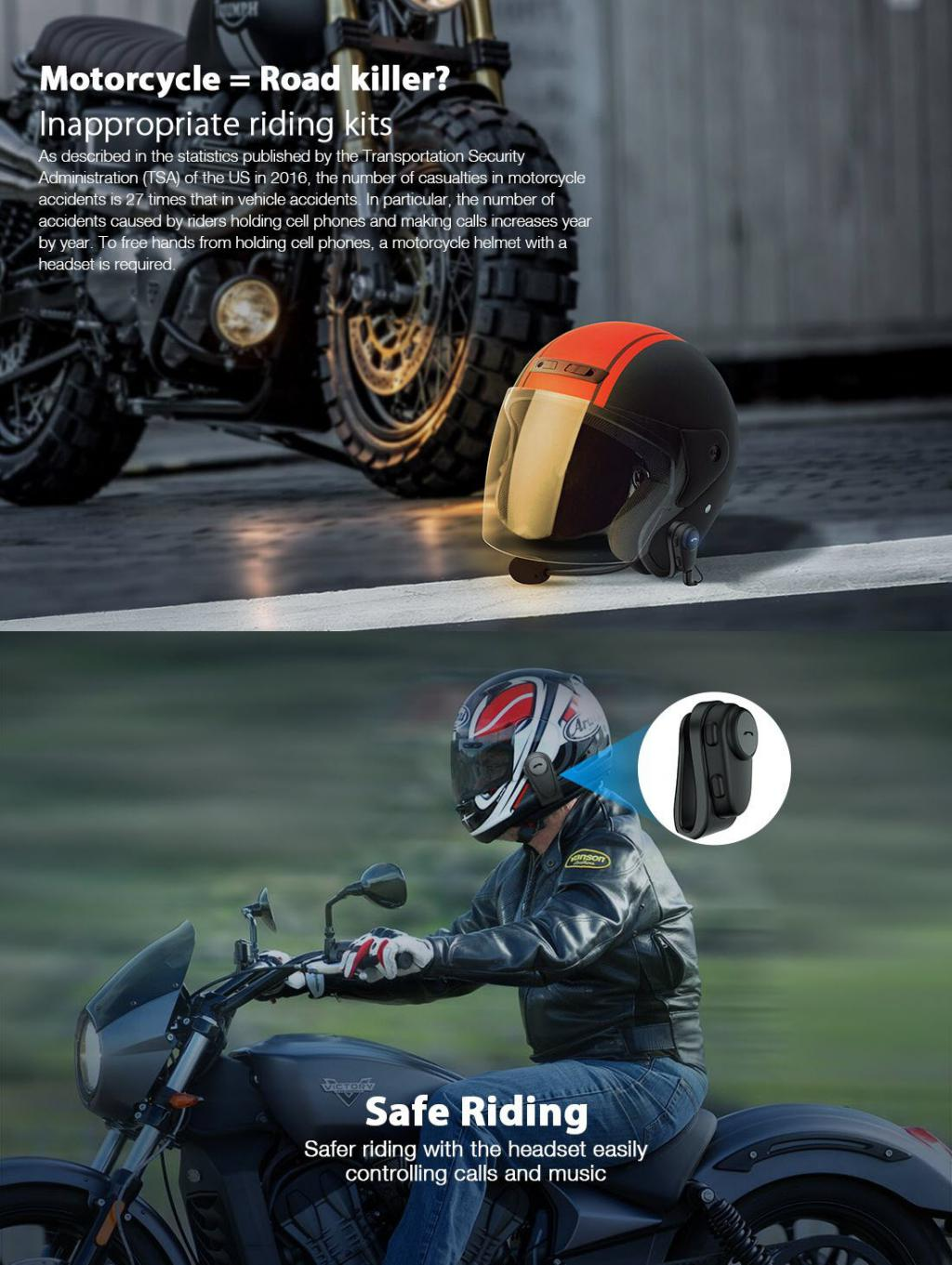 Roman Motorcycle Helmet Bluetooth Headset (2)