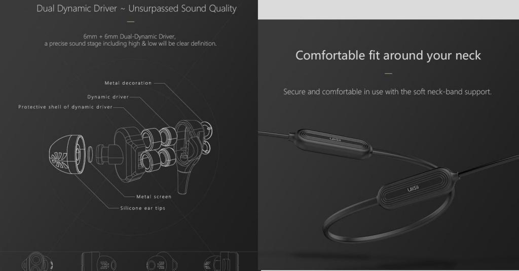 Uiisii Bn80 Dual Drivers Wireless Bluetooth Earphones (3)