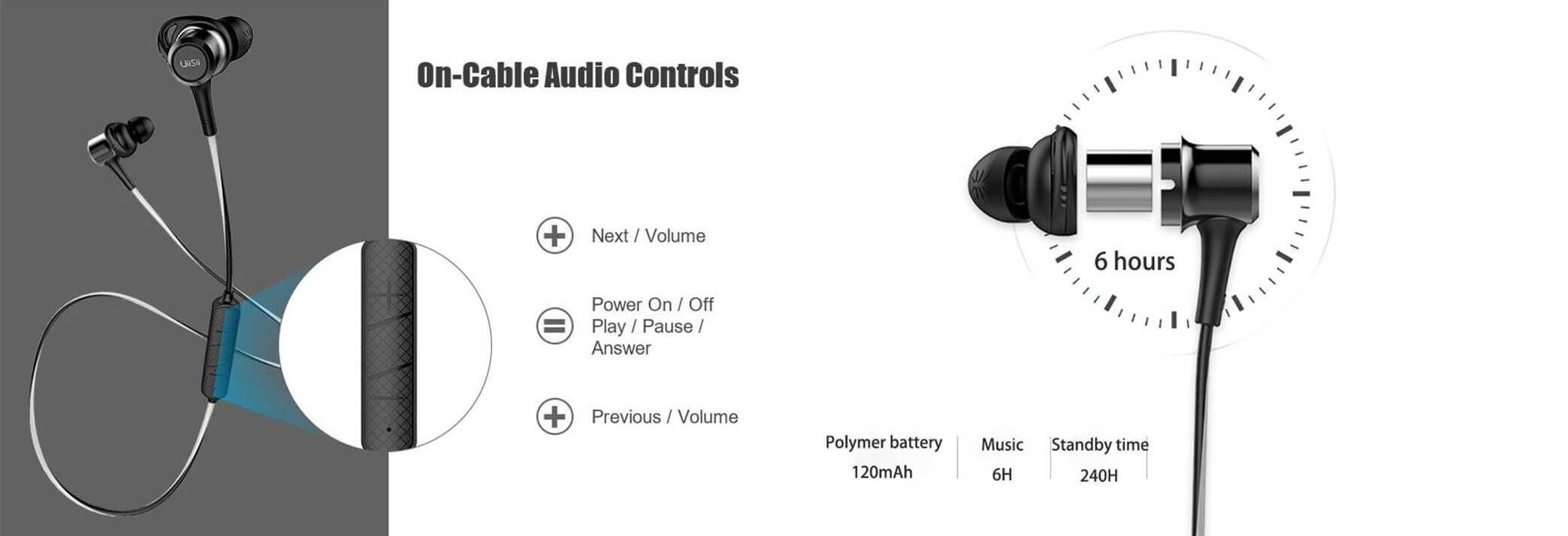 Uiisii Bt 260 Wireless Bluetooth Sports Earphones (2)