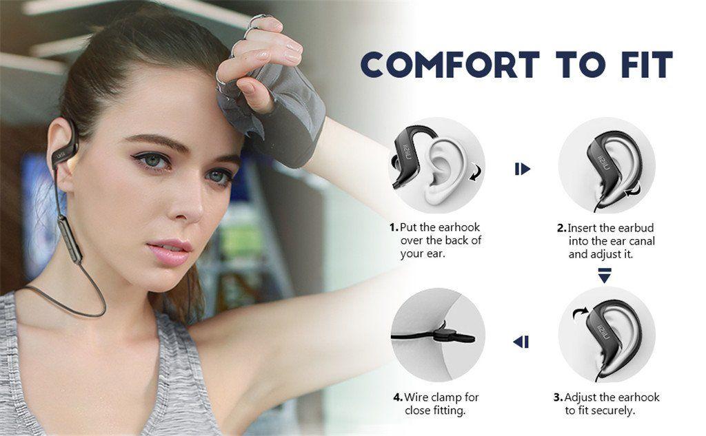 Uiisii Bt100 Wireless Bluetooth Sports Earphones (3)