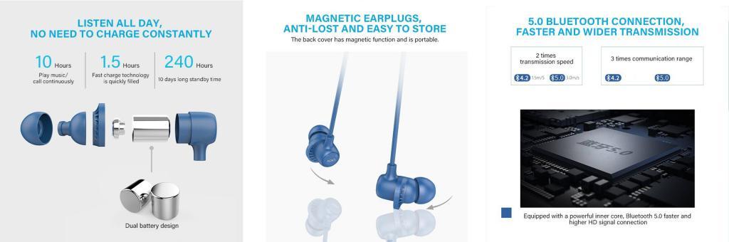 Uiisii Bt118 Ai Smart Voice Control Wireless Bluetooth Earphones (1)