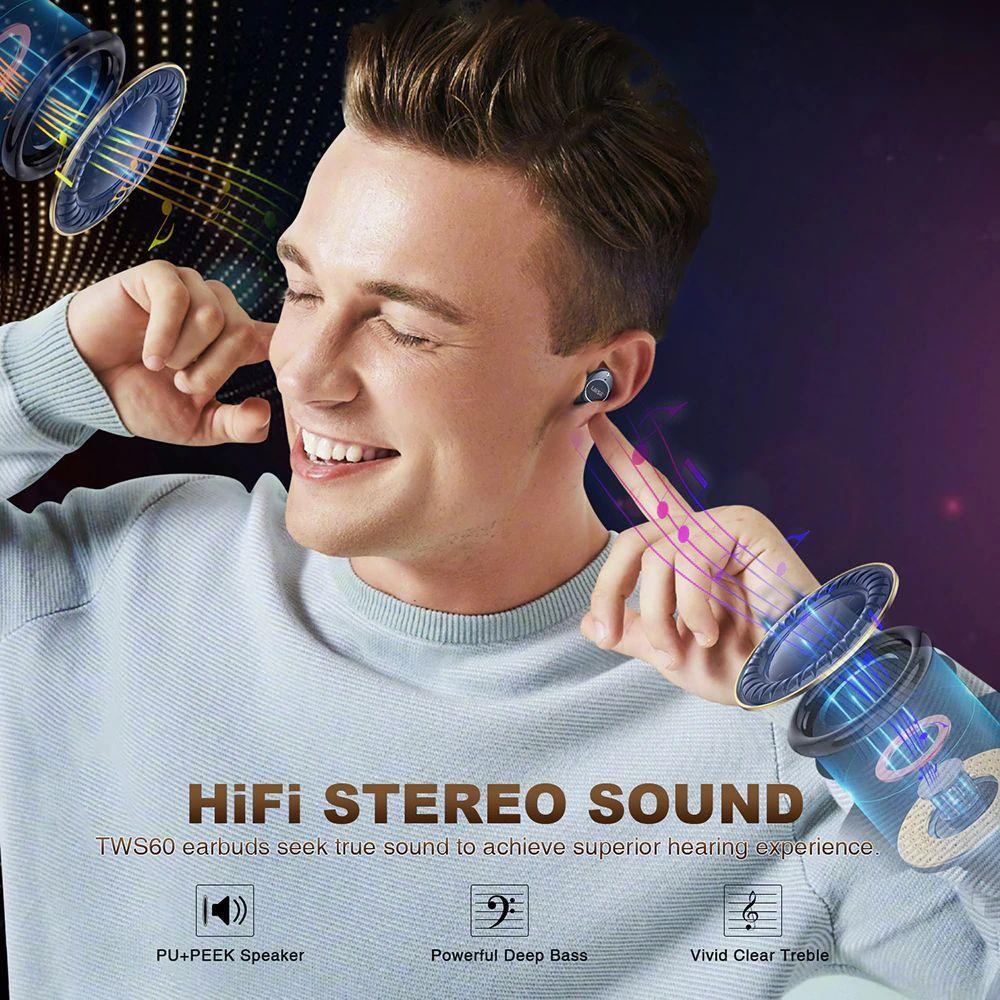 Uiisii Tws60 Bluetooth 5 0 Waterproof True Wireless Earbuds (6)