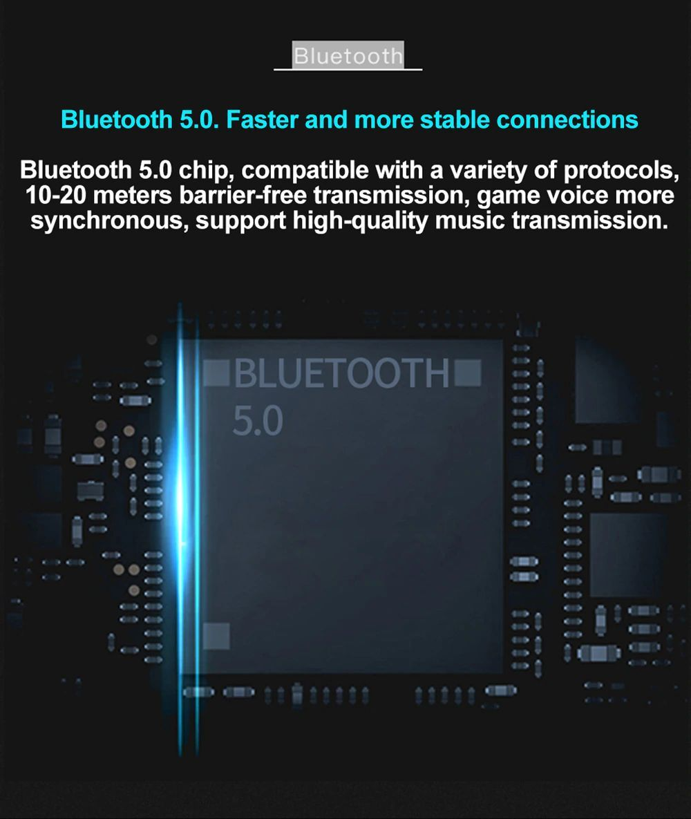 Uiisii Tws60 Bluetooth 5 0 Waterproof True Wireless Earbuds (9)