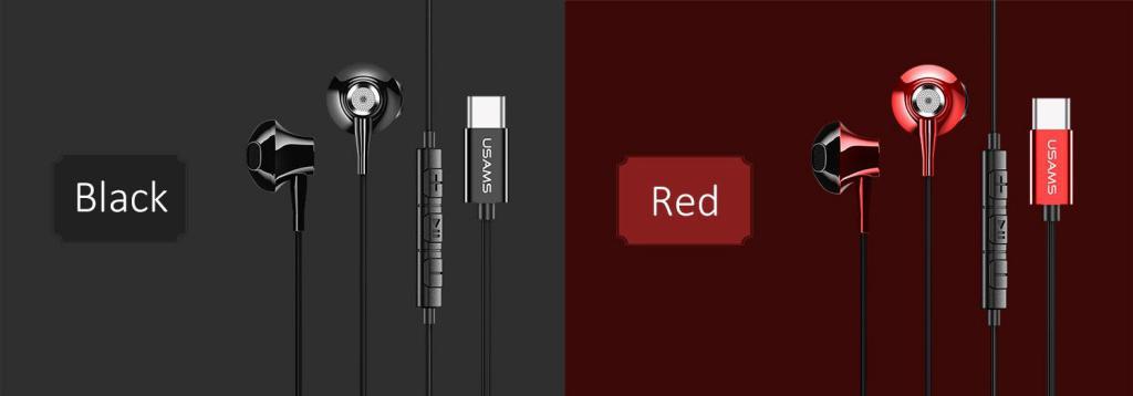 Usams Ep 25 Metal Type C Earphones (1)