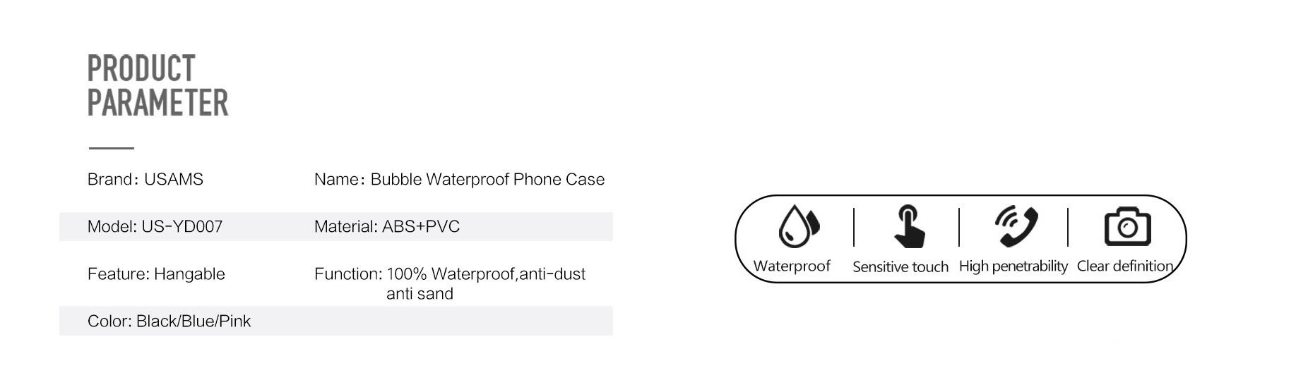 Usams Waterproof Mobile Phone Bag (2)