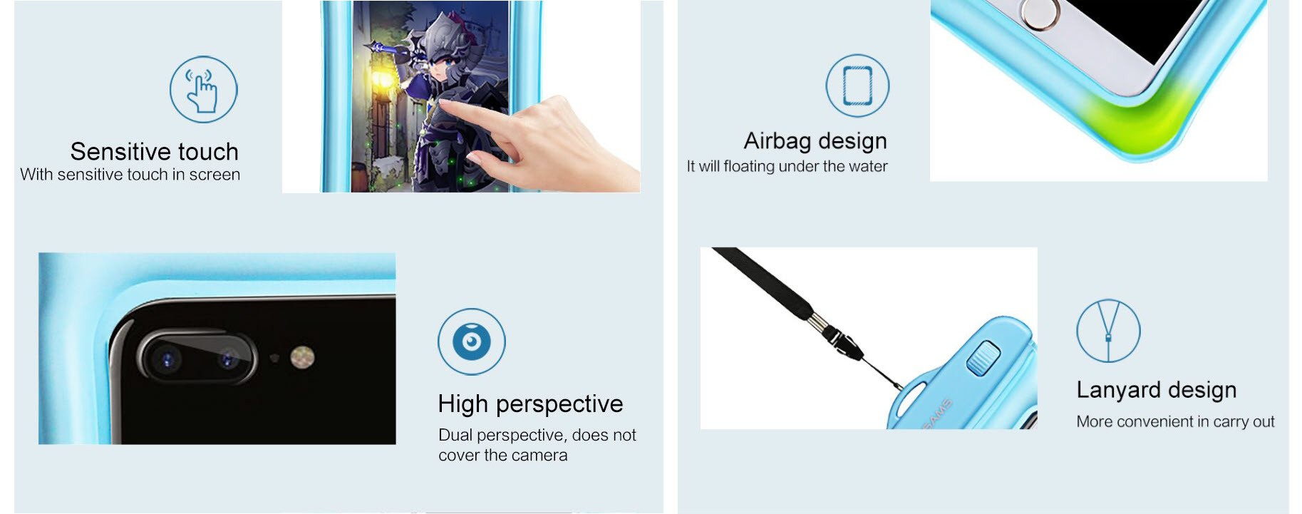 Usams Waterproof Mobile Phone Bag (5)
