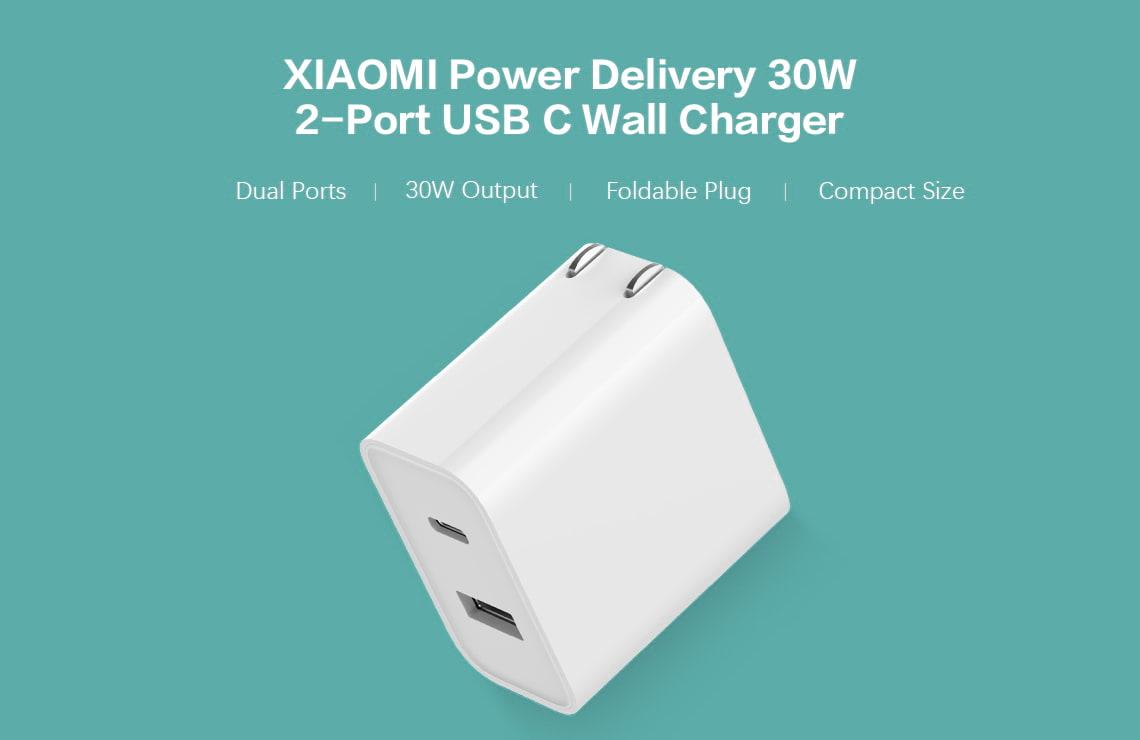 Xiaomi 30w 2 Port Usb C Wall Charger (8)