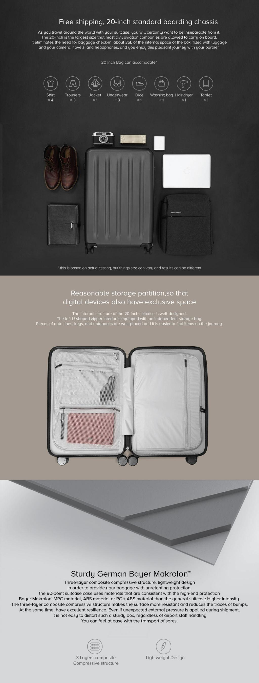 Xiaomi 90 Points Suitcase 20 Inches (6)