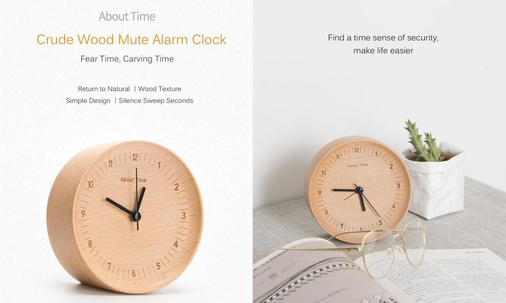 Xiaomi About Time Wooden Desktop Table Clocks (5)