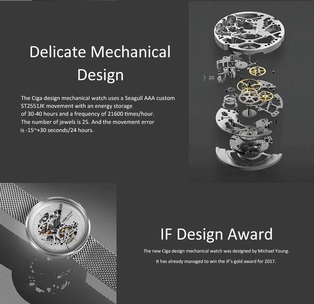 Xiaomi Ciga Design Hollow Out Mechanical Watch (1)
