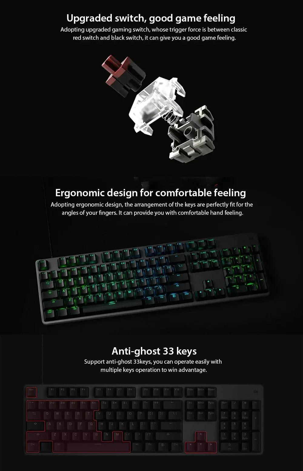 Xiaomi Gaming Keyboard With Rgb Backlight (1)