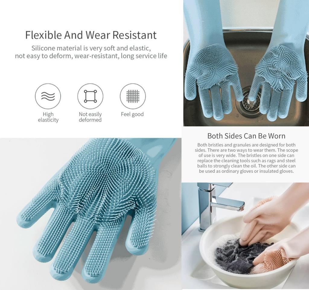 Xiaomi Jordan Judy 1 Pair Magic Silicone Cleaning Gloves (1)