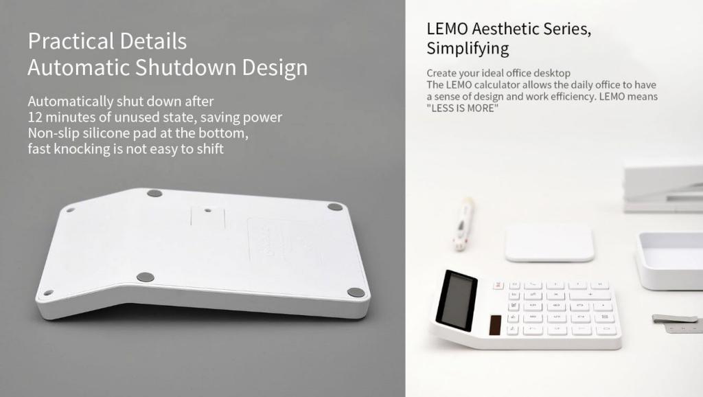 Xiaomi Lemo Dual Drive 12 Digit Display Automatic Shutdown Calculator (3)