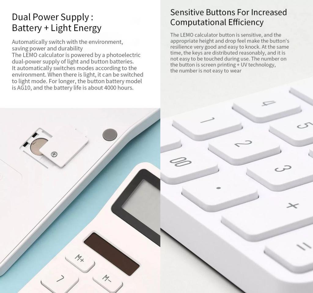 Xiaomi Lemo Dual Drive 12 Digit Display Automatic Shutdown Calculator (5)