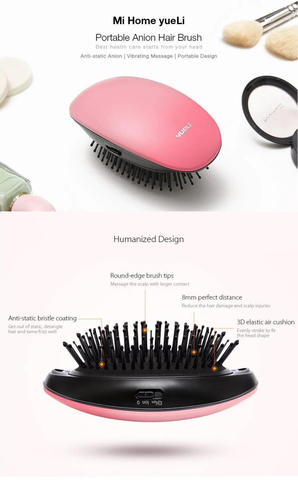 Xiaomi Mi Home Yueli Portable Anion Hair Brush (2)