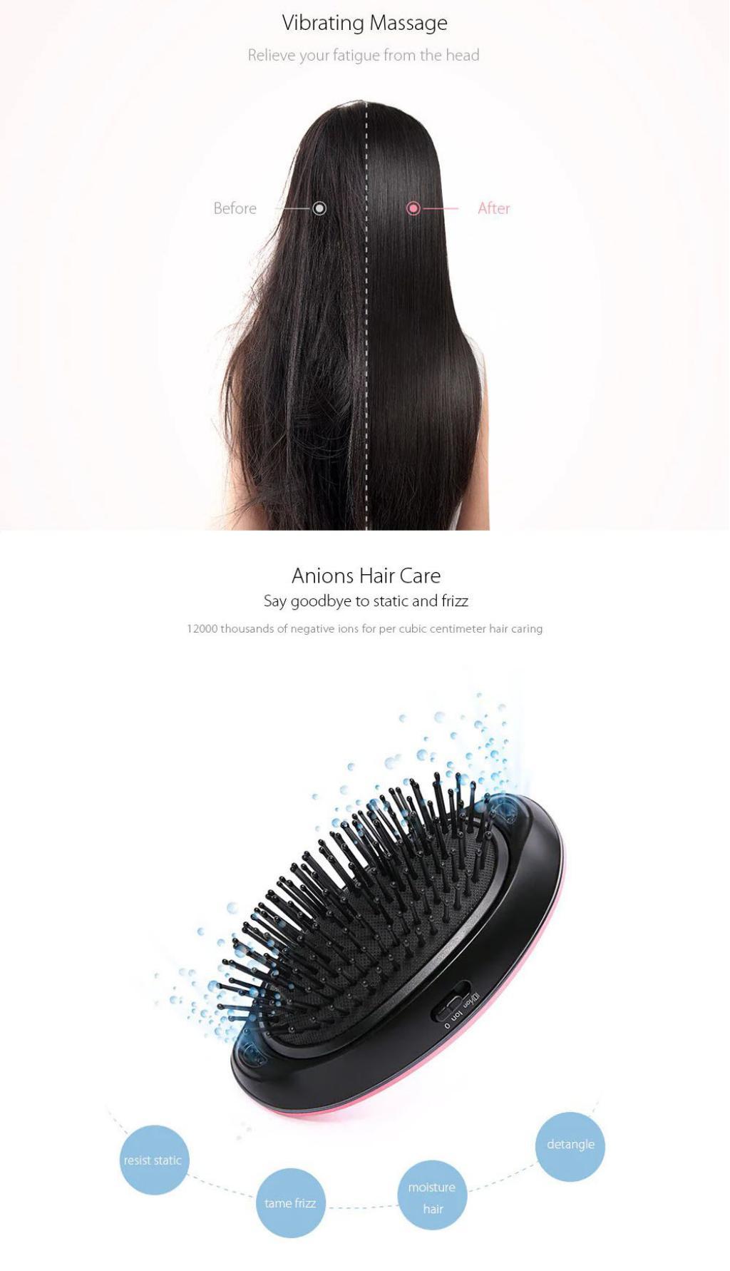 Xiaomi Mi Home Yueli Portable Anion Hair Brush (3)