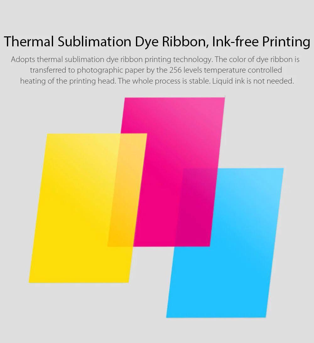 Xiaomi Mobile Printer Photo Paper Ink Ribbon Set (1)