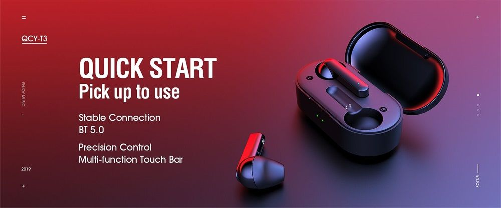 Xiaomi Qcy T3 Tws Bluetooth 5 0 Earphones With Charging Box (2)