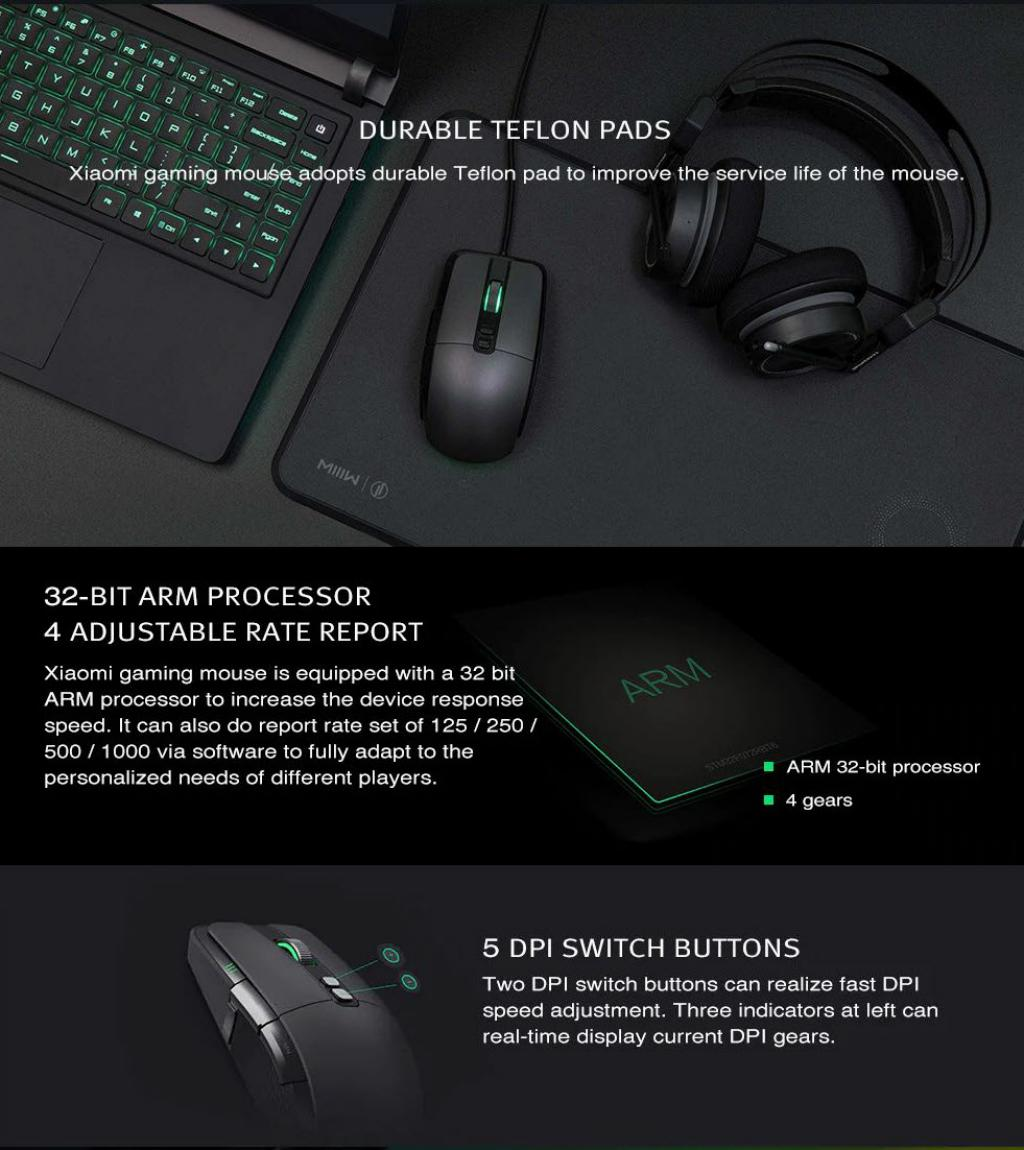 Xiaomi Wired Wireless Gaming Mouse With Rgb Lights (4)