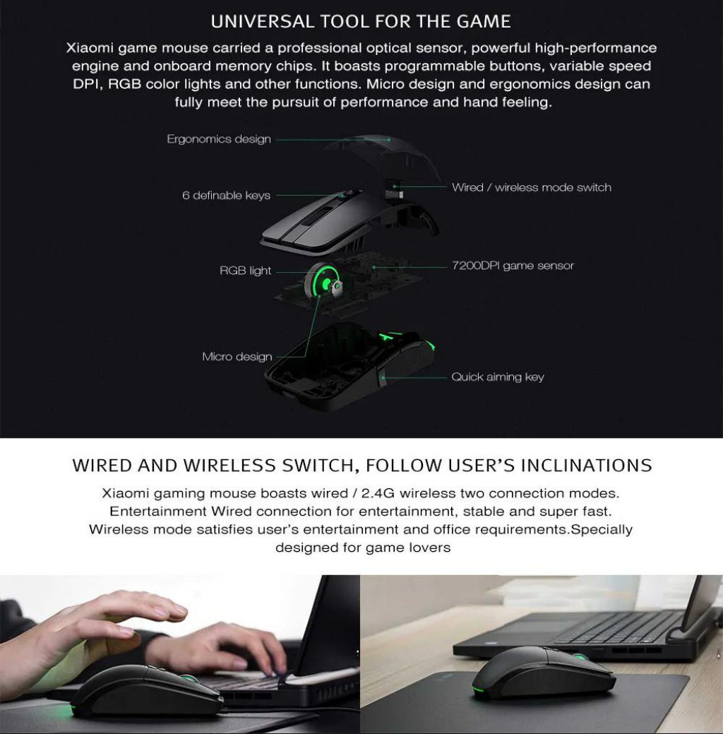Xiaomi Wired Wireless Gaming Mouse With Rgb Lights (5)