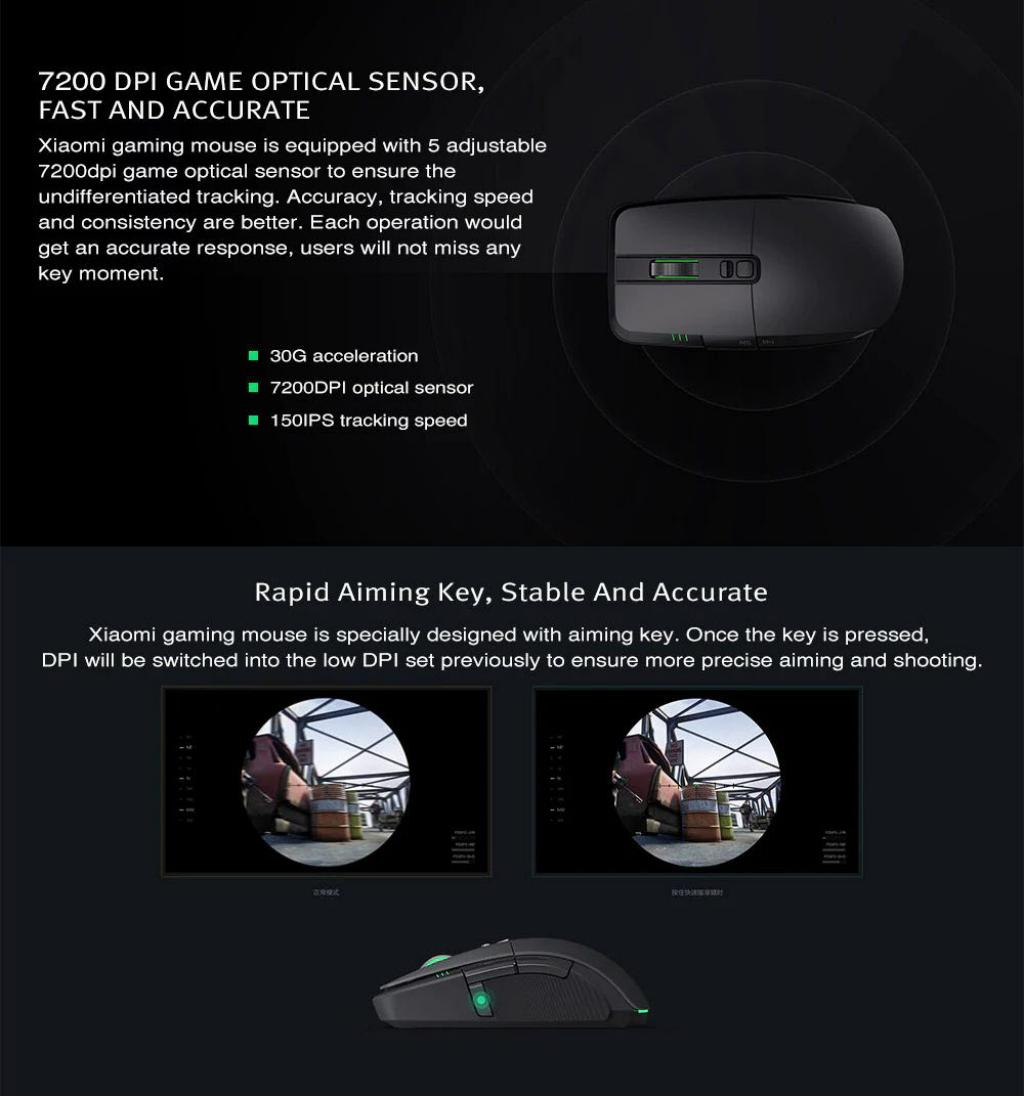 Xiaomi Wired Wireless Gaming Mouse With Rgb Lights (6)