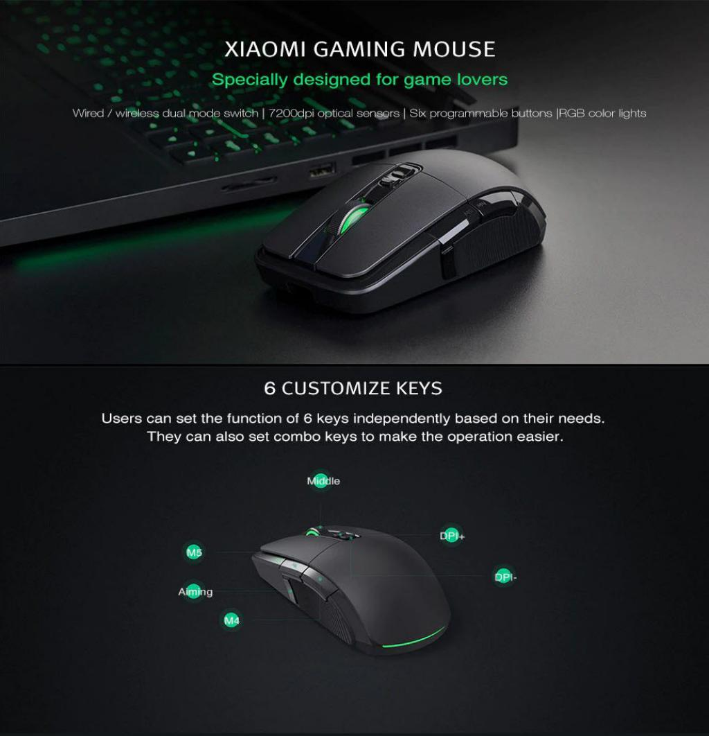 Xiaomi Wired Wireless Gaming Mouse With Rgb Lights (7)
