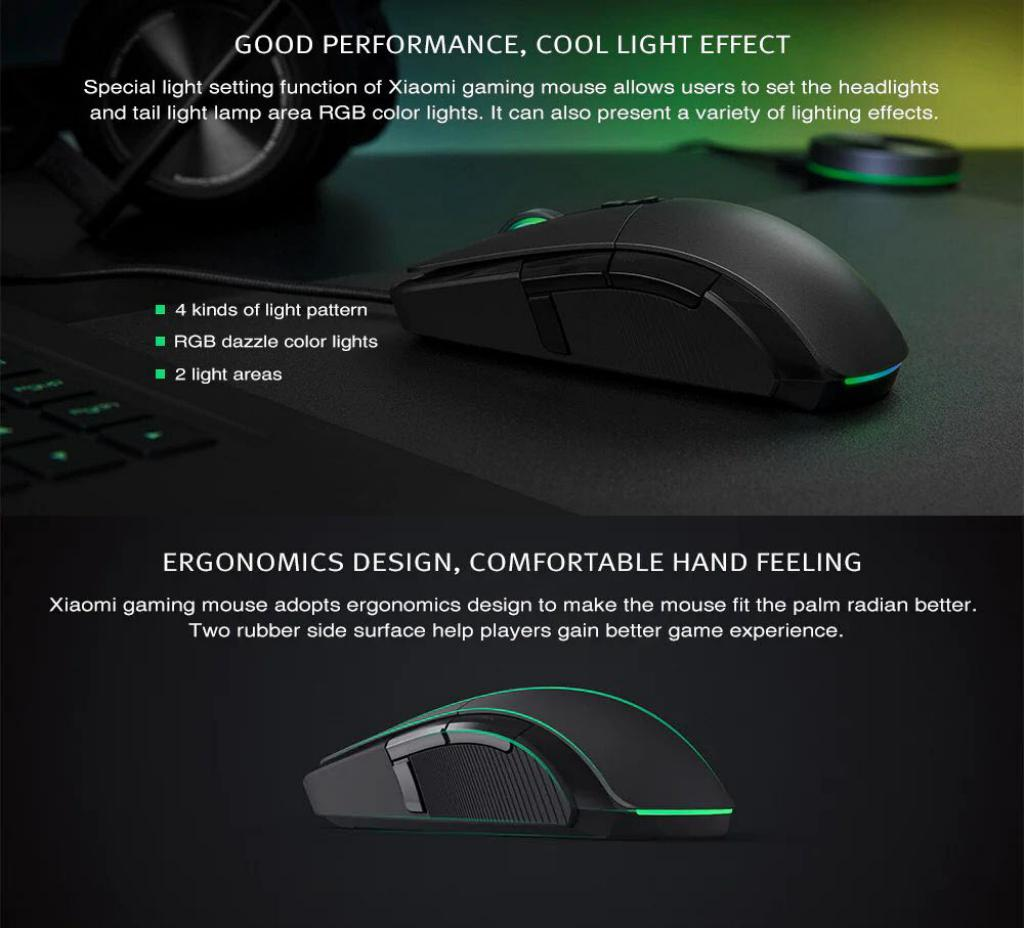 Xiaomi Wired Wireless Gaming Mouse With Rgb Lights (8)
