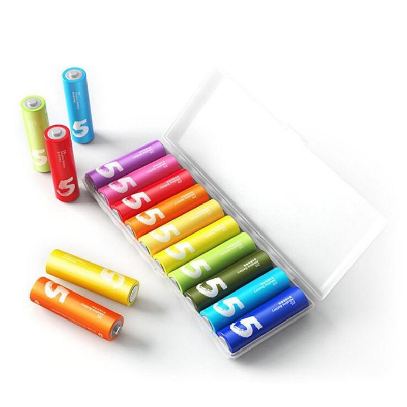 Xiaomi Zi5 Rainbow 1 5v Aa Alkaline Battery Set 10pcs (6)