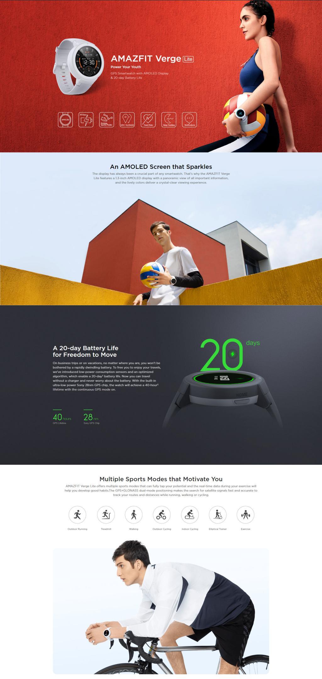 Amazfit Verge Lite Smartwatch (5)