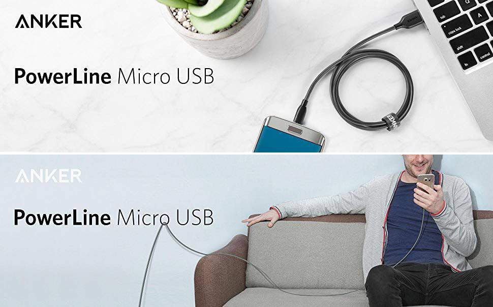 Anker Powerline Micro Usb Cable 3ft 6ft (2)