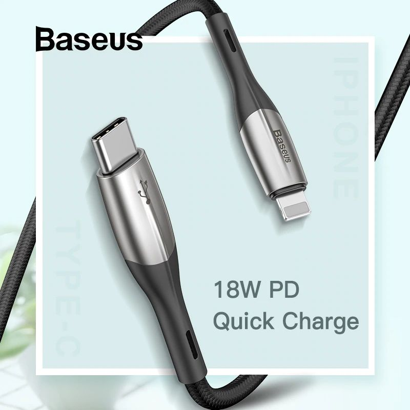 Baseus 18w Pd Quick Charge Cable Usb Type C To Ip For Apple Iphone (3)