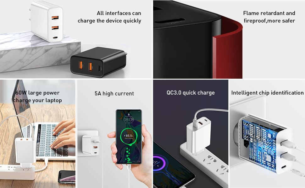 Baseus 60w Pps Quick Charge 4 0 3 0 Pd 3 0 Fast Charger (5)
