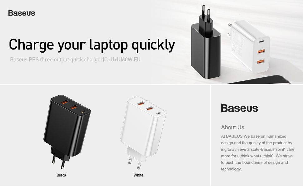 Baseus 60w Pps Quick Charge 4 0 3 0 Pd 3 0 Fast Charger (6)