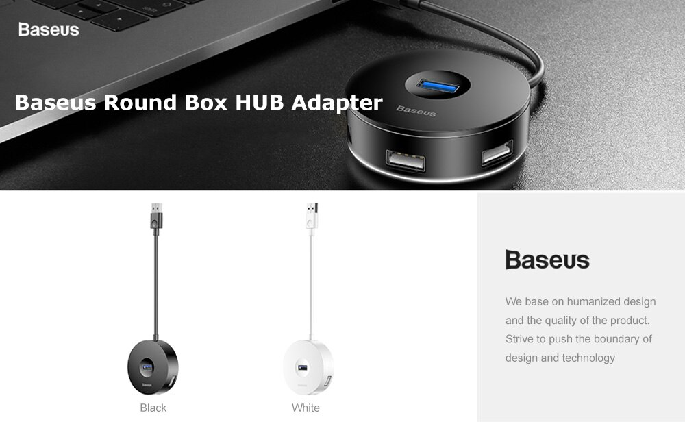 Baseus Round Box Hub Adapter 4 Usb Ports (5)