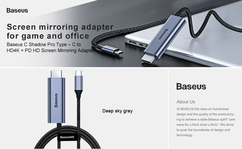 Baseus Type C To Hdmi Cable 4k (2)