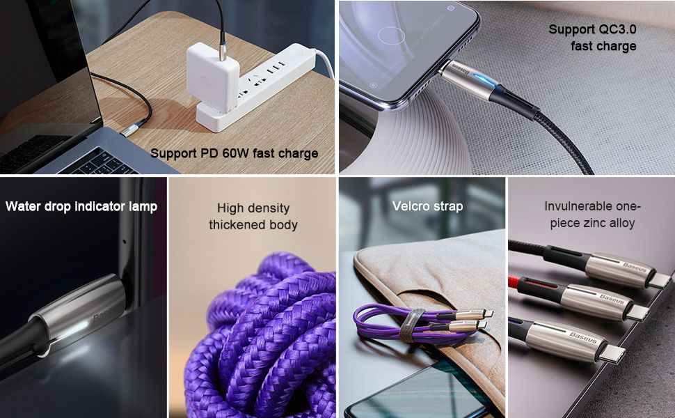 Baseus Usb Type C To Usb 60w Charge Cable (4)