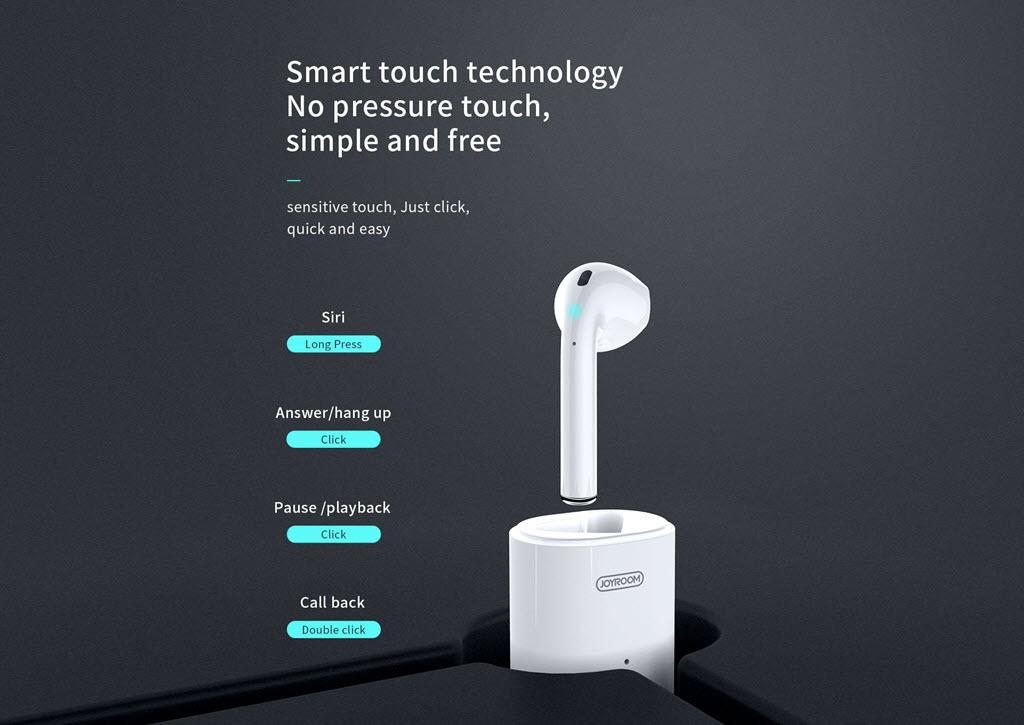 Joyroom Jr Sp1 Single Bluetooth Earphone With Charging Case (6)