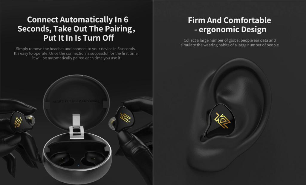 Kz T1 Tws Wireless Touch Control Earphones (1)