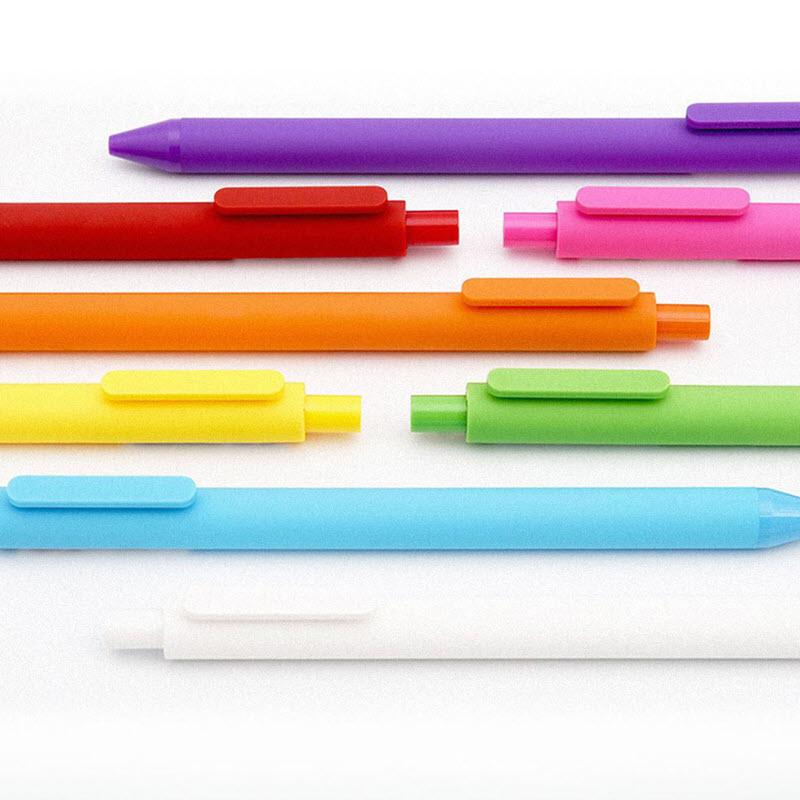 Mi Kaco Pure Plastic Gel Ink Pen Multi Color 12pcs Pack (1)