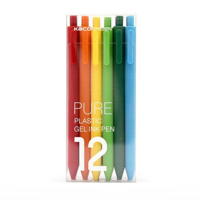 Mi Kaco Pure Plastic Gel Ink Pen Multi Color 12pcs Pack (3)