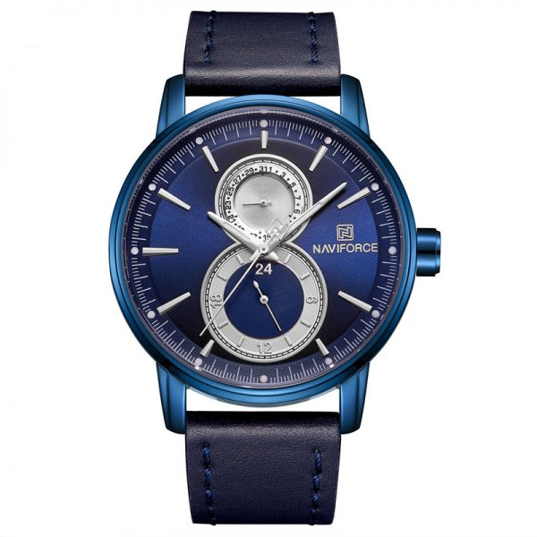Naviforce 3005 Leather Strap Watch (1)