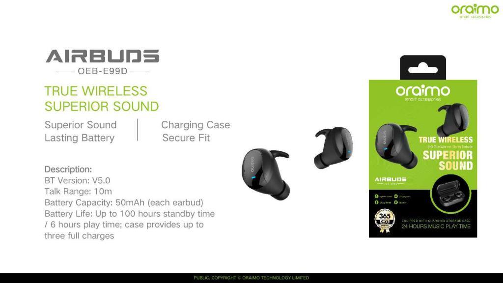 Oraimo Airbuds True Wireless Stereo Earbuds Oeb E99d (6)