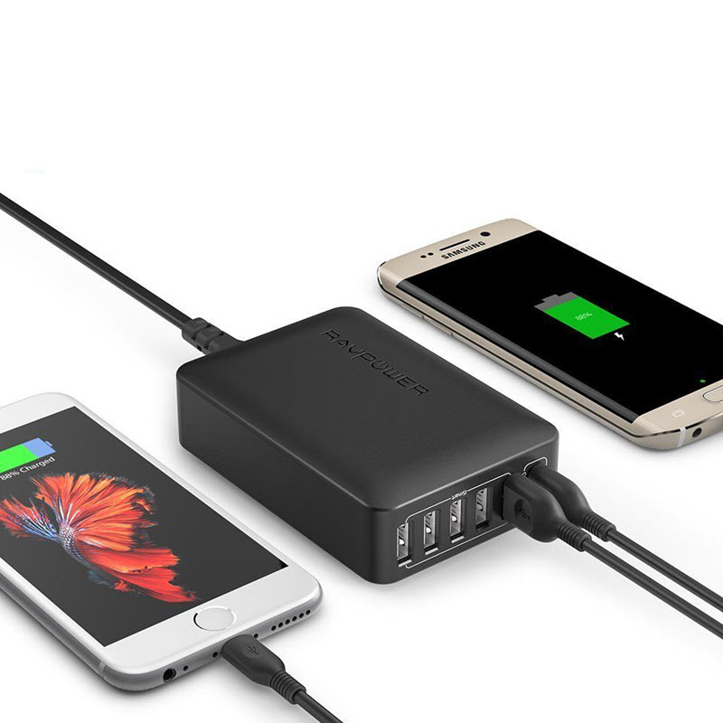 Ravpower 60w 6 Port Desktop Charger With Qc 3 (6)