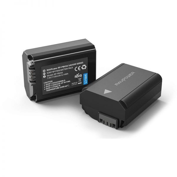 Ravpower Np Fw50 Camera Batteries Charger Set For Sony Rp Pb056 (2)